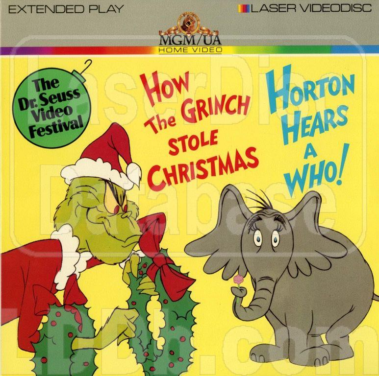 laserdisc database dr seuss video festival how the grinch stole christmas horton hears a who ml100176 - How The Grinch Stole Christmas Video