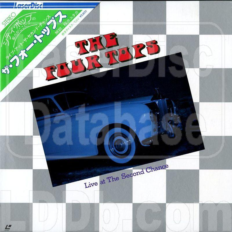 LaserDisc Database - Four Tops: Live at the Second Chance