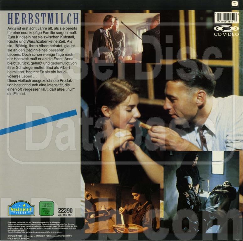 Laserdisc Database Herbstmilch 22390